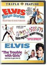 Elvis Presley TRIPLE FEATURE DVD Harum Scarum Speedway Trouble with Girls Films