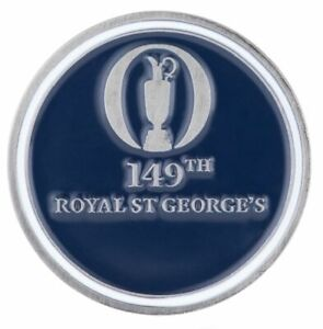 2021 OFFICIAL (Royal St Georges) British Open Two Sided (Navy/Wht) BALL MARKER