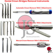Dental Crown Removal Instrument Bridge Removers With FREE Attachments Dentist