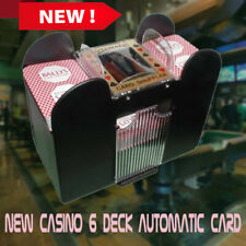 Casino 6 Deck Automatic Card Shuffler Battery Operated Professional Poker Games