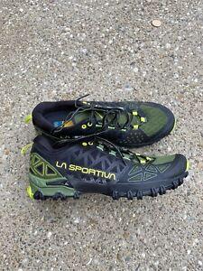 La Sportiva Bushido II Men's Size US 9.5 / 42.5 Olive Neon Trail Running Shoe