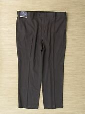 Stafford Travel Trousers Gray Men's Size 44x30 Classic Fit Flat Front Zipper Fly