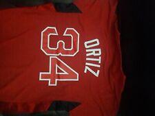 David Ortiz Boston Red Sox Majestic shirt MLB baseball Jersey NEW '[ Youth XL ]'