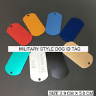 1 SIDED FREE CUSTOM ENGRAVED ID DOG PET TAGS PERSONALIZED MILITARY STYLE DOG TAG