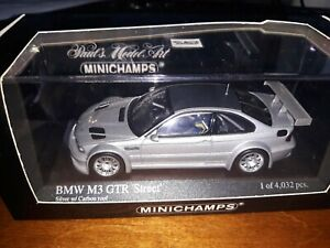 Minichamps 1/43 BMW M3 GTR Street 2001 silver with carbon roof