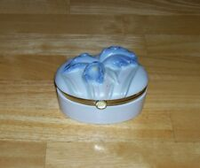 Vintage Fitz & Floyd trinket box Ff 1983 Iris flower vintage china collectible