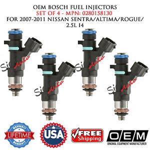 4X OEM BOSCH Fuel Injectors for 2007-2011 NISSAN SENTRA/ALTIMA/ROGUE/ 2.5L I4