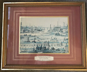 L.S Lowry Framed Print - Industrial Landscape 1950