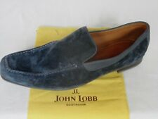 NEW John Lobb COVE Softest Blue Suede Slip On Loafer Shoes UK 11.5  RRP $810
