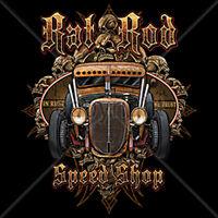 Rat Rod Speed Shop Old School Rust Car Auto Racing T-Shirt Tee