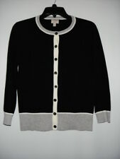 Women's BANANA REPUBLIC ISSA LONDON COLLECTION Black Gray White Cardigan S