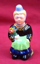 DESVRES G FOURMAINTRAUX Young Bretonne Salt Shacker Hand Painted Faience