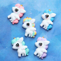 5pcs Big eyed Unicorn Flat Back Resin Cabochon DIY Phone Embellishments HT