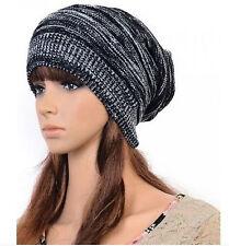 Knit Baggy Beanie Beret Hat Warm Unisex Womens Mens  Winter Oversized Ski Cap 3