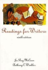 Readings for Writers by Anthony C. Winkler and Jo Ray McCuen (1997, Paperback) 9
