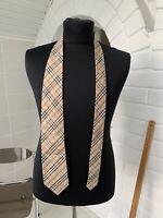 Men's Burberry London Beige Vintage Plaid Check Tie