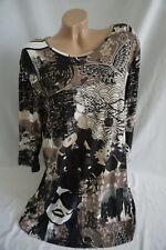 Damen Shirt Tunika Bluse, geblümt gr 46-48gut erhalten
