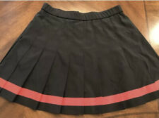 Black School Girl Cheerleader Cosplay Halloween Costume Pleated Skirt