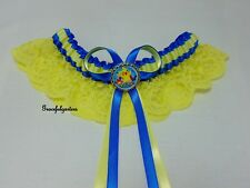 plus size Pokemon Pikachu disney lace Bridal Wedding garter. any 2 colours