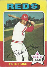 1975 Topps Pete Rose Cincinnati Reds NL All Star Outfield #320