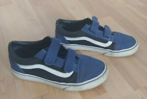 VANS Boys Sneakers Blue Low Top Round Toe Size US 5