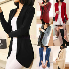 Women Casual Knitted Sweater Long Sleeve Slim Suit Cardigan Coat Jacket Outwear