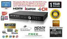 4 Channel HD-SDI True Full HD DVR H264 1920X1080@120FPS Netwrok HDMI 1080P 16TB