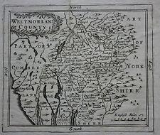 Scarce original antique map of WESTMORELAND, LAKE DISTRICT John Seller, 1701