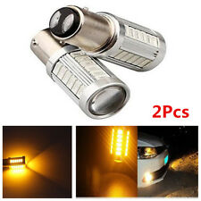 Pair 1157 1142 Yellow Car Tail Stop DRL Brake Light Back Up Lamp 33 SMD LED Bulb