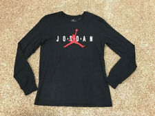 $40 AIR JORDAN FLIGHT JUMPMAN NIKE BLACK WHITE RED LONG SLEEVED T-SHIRT ATHLETIC