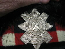 WW2 Era Royal Highland Regiment Of Canada Black Watch 4 Tail Feather Bonnet