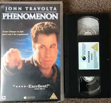 PHENOMENON. JOHN TRAVOLTA-VHS VIDEO BIG BOX-EX RENTAL.