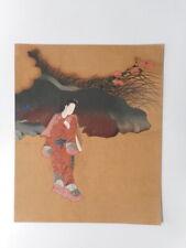 Estampe japonaise femme japonaise kimono Japon