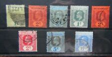 British Honduras KEVII Range 1904 values to 5c 1908 values to 5c Used 1908 1c M