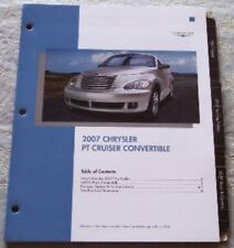 NEW 2007 CHRYSLER PT CRUISER CONVERTIBLE PRODUCT KNOWLEDGE LITERATURE BROCHURE!