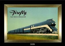 Magnet Train Post Card Photo Magnet The Firefly Fast Frisco Streamliner 1939