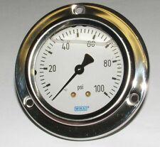100 PSI Panel Mount Pressure Gauge liquid filled (A-G1030)