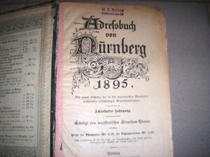 Adressbuch von Nürnberg 1895 - Einwohnerbuch