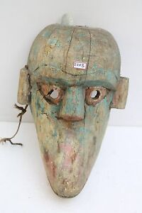 1900's Vintage Rare Old Hand Made Wooden Folk Tribal Wall Hanging Mask NH2208