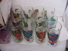 Vintage 12 Days Christmas Drinking Glasses With Box American Glass 12oz