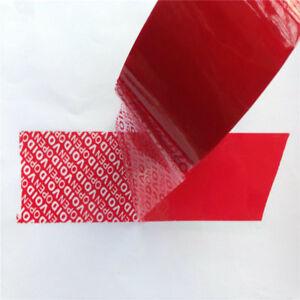 Nastro adesivo anti manomissione colore rosso 25mm x 50 MT antieffrazione furti