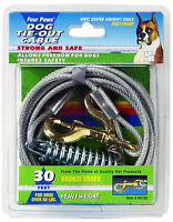 Four Paws Tie Out Cable Heavyweight 30 Foot Silver
