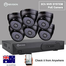 Anbvision CCTV PoE Plug&Play 6X IP Network 2MP Camera + 8CH 1080P NVR System Kit