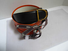 Authentic Reversible Hermes Belt Paris Black & Tan Leather Brass Buckle & Box