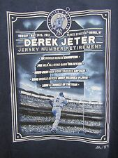 MLB Derek Jeter Yankee Stadium Number Retirement Day T-Shirt Adult L Majestic