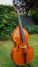 More details for double bass, solid wood, 3/4 size, flamed back, fishman pickup & soundware bag