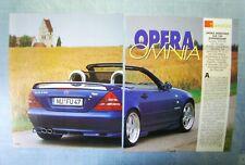 AUTO998-RITAGLIO/CLIPPING/NEWS-1998-MERCEDES OPERA SLK 230 KOMPRESSOR - 2 fogli