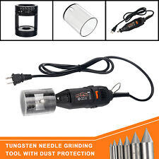 Tig Welding Tungsten Electrode Sharpener Grinder Head Tool With 110v Rotary Tool