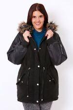 Parka Faux Fur Plus Size Coats & Jackets for Women