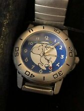 More details for peanuts boxed snoopy skateboarding analogue watch metal strap opex 2000s schultz